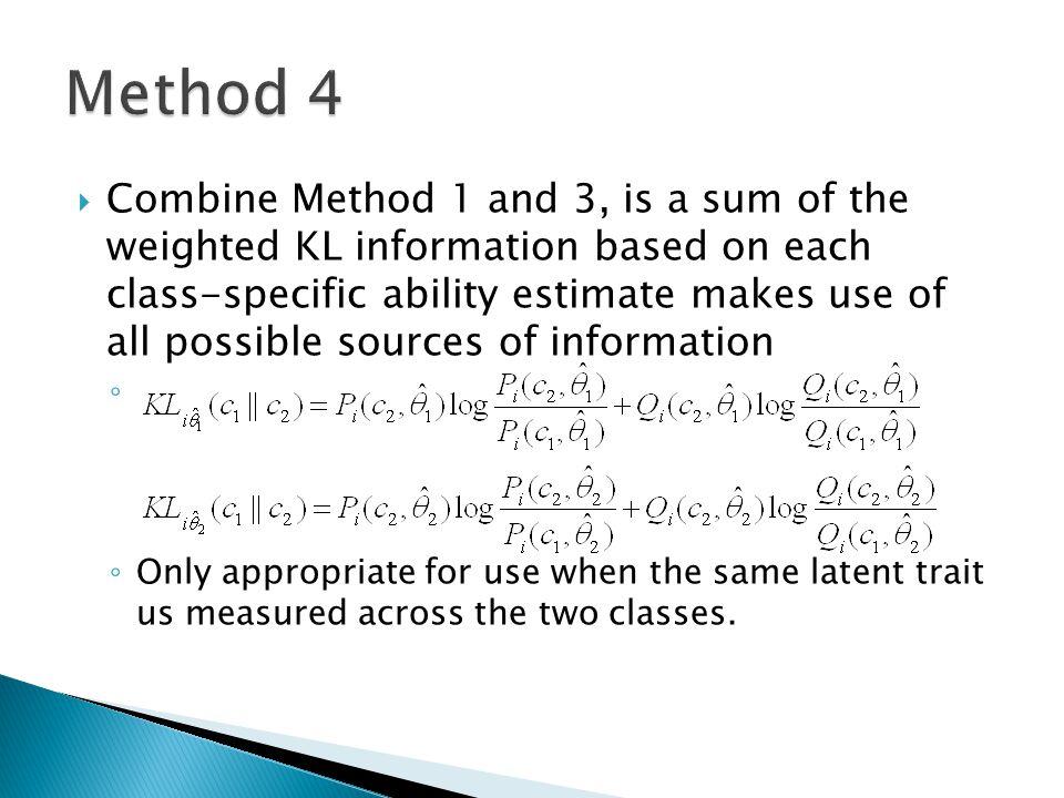  12 Item selection methods