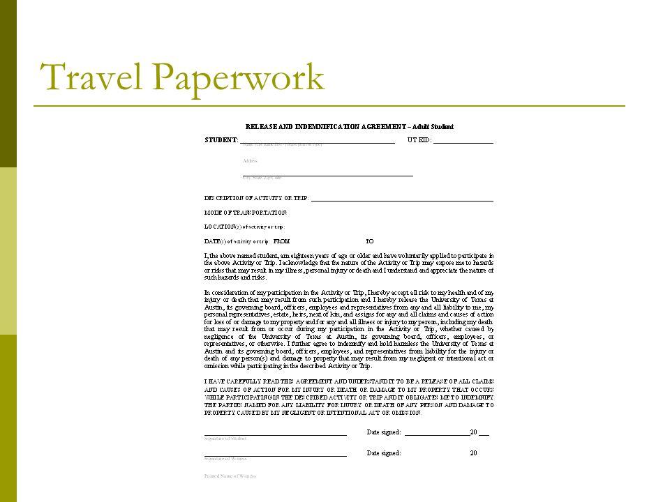 Travel Paperwork