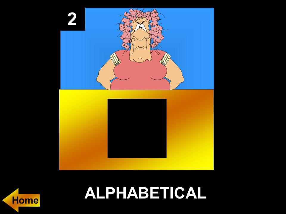 2 ALPHABETICAL