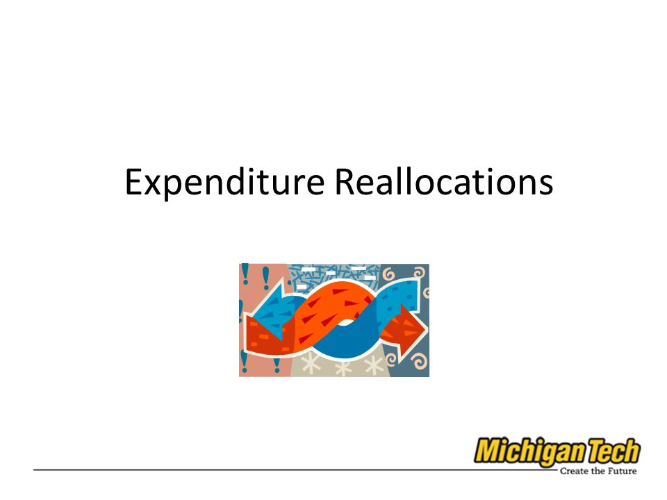 Expenditure Reallocations