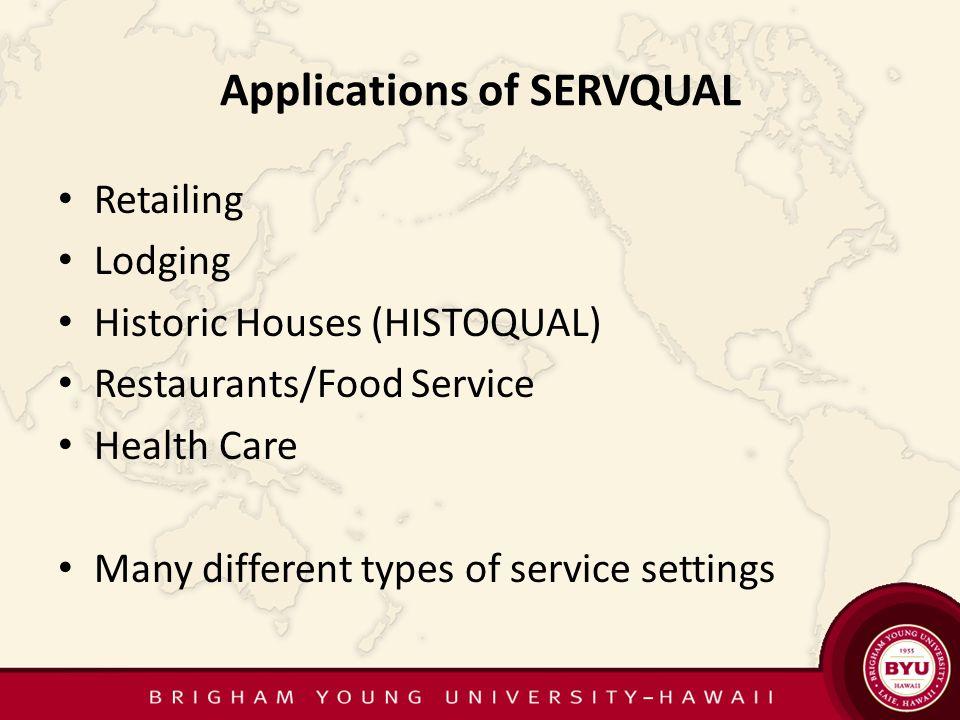 SERVQUAL (Service Quality)