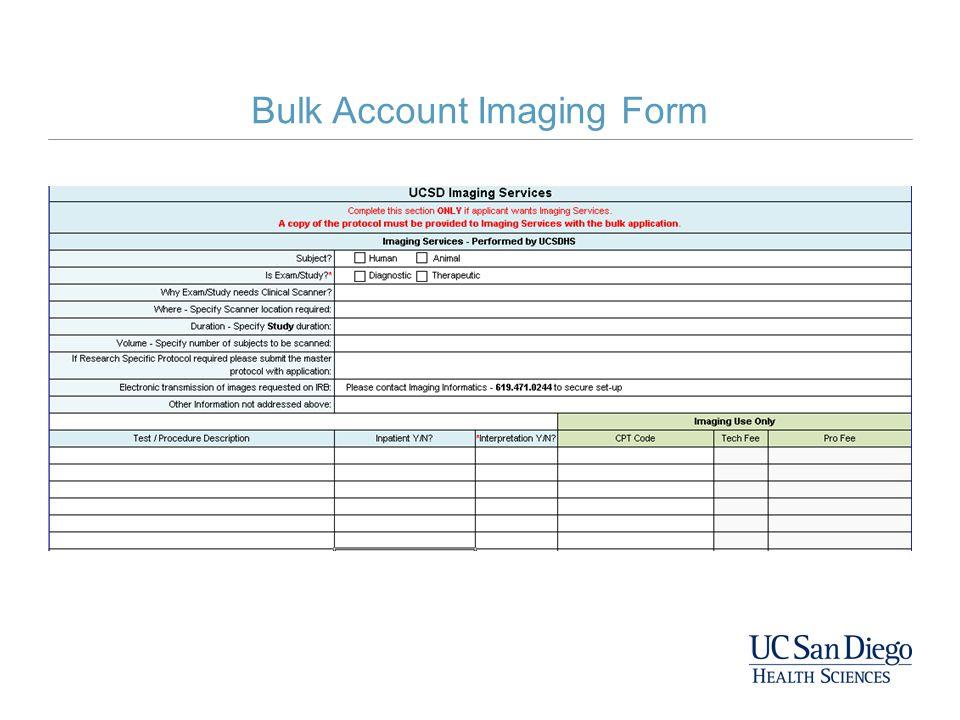 Bulk Account Imaging Form