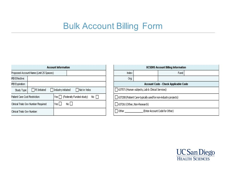 Bulk Account Billing Form