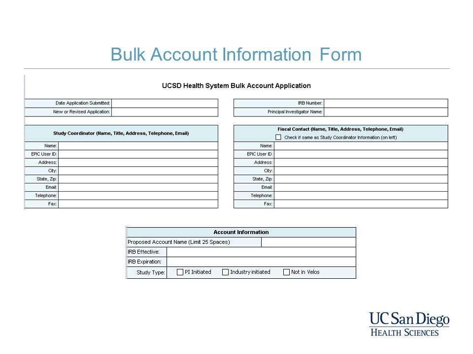 Bulk Account Information Form
