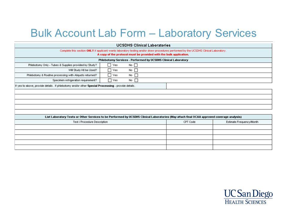 Bulk Account Lab Form – Laboratory Services