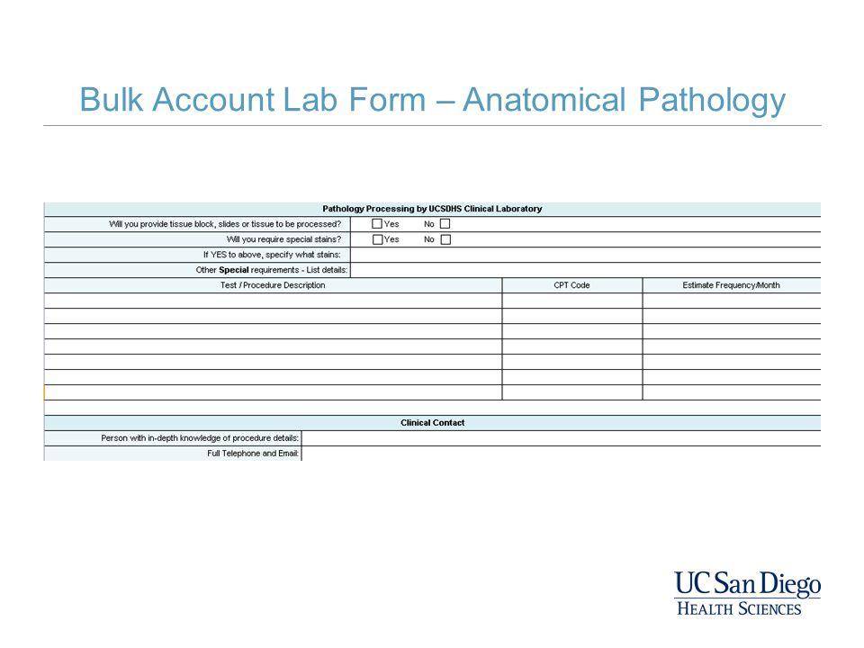 Bulk Account Lab Form – Anatomical Pathology