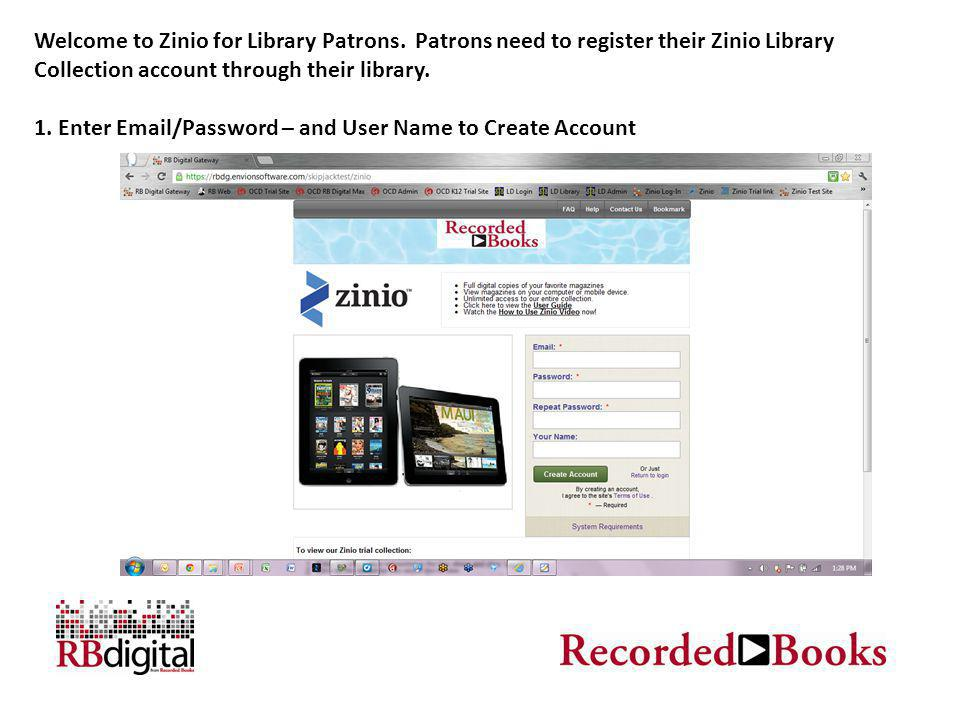 Welcome to Zinio for Library Patrons.