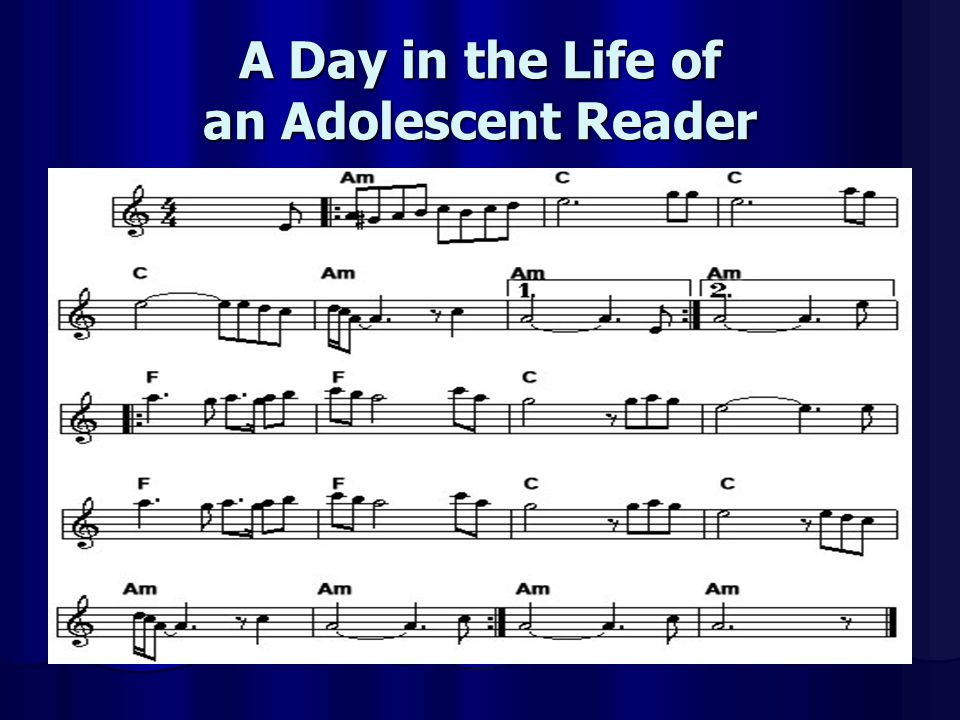 A Day in the Life of an Adolescent Reader