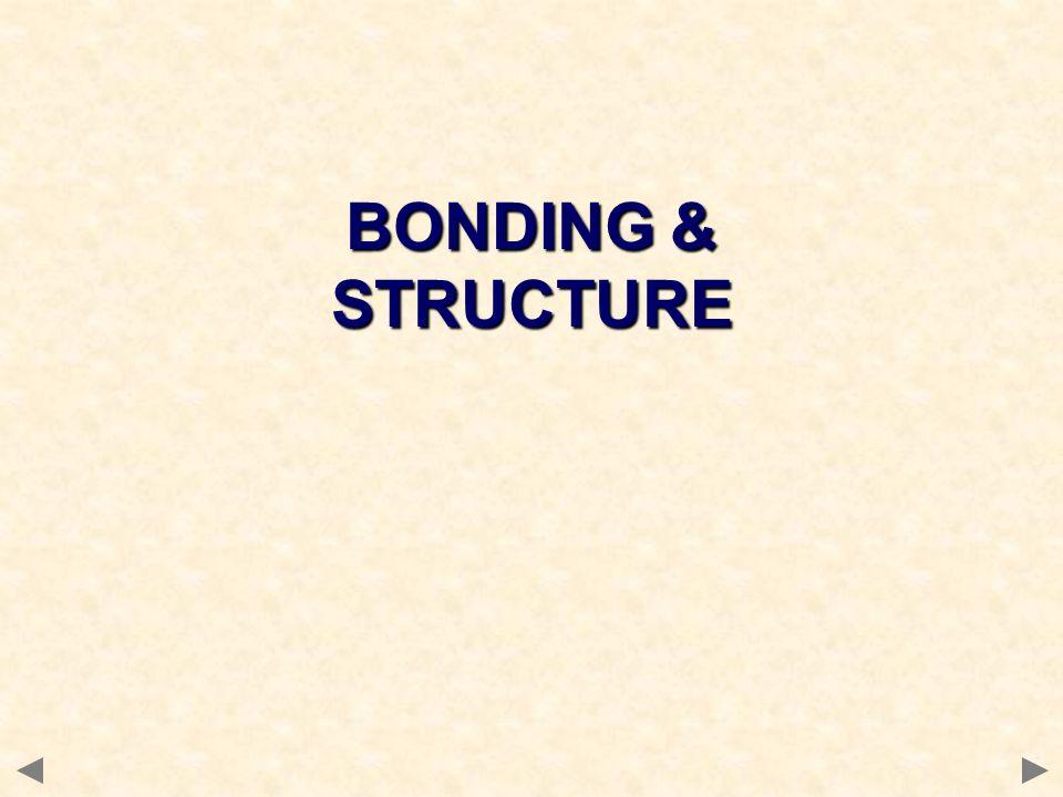 BONDING & STRUCTURE