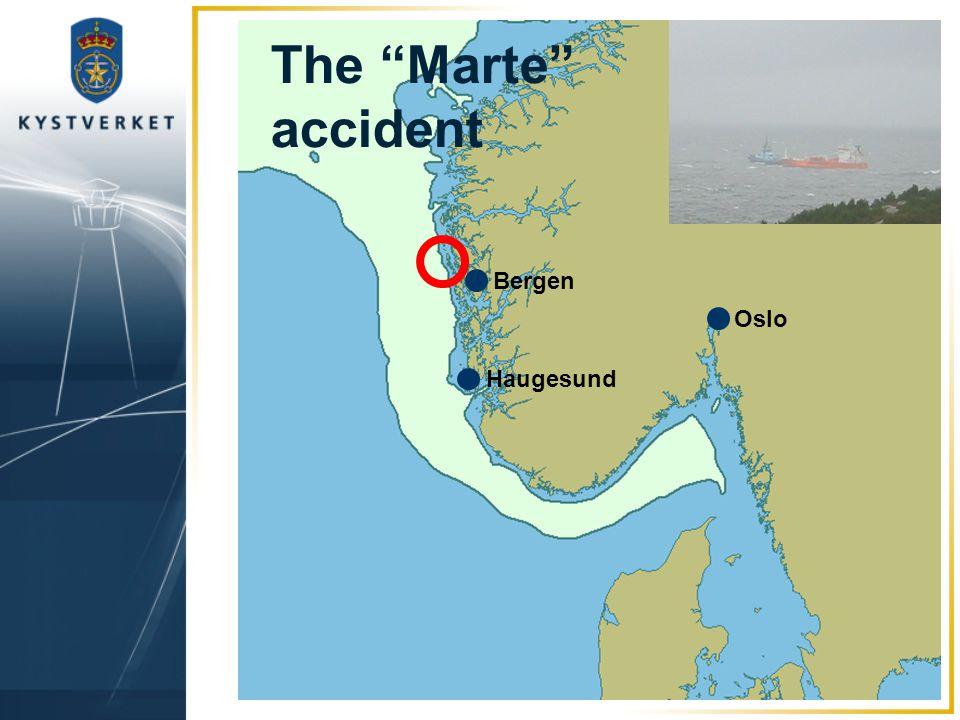 The Marte accident Bergen Oslo Haugesund
