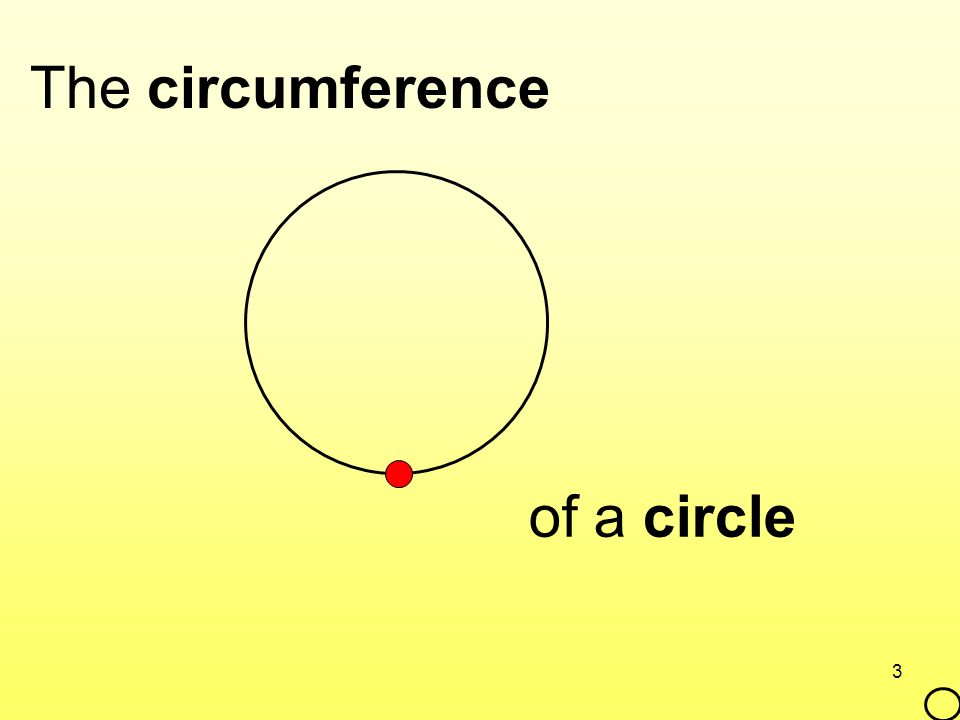 3 The circumference of a circle