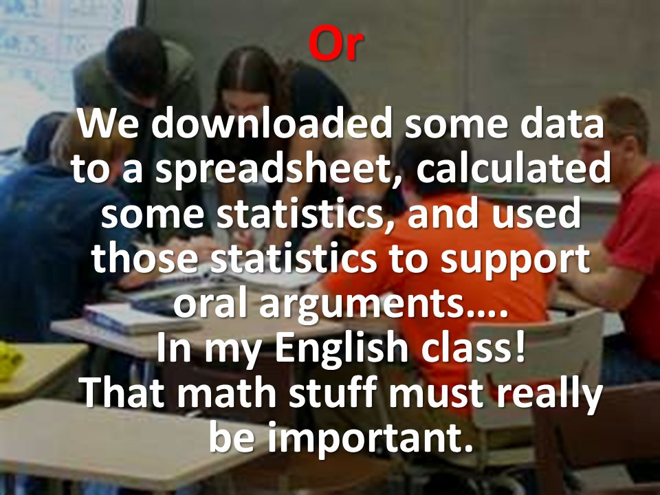 Math in context means math is meaningful