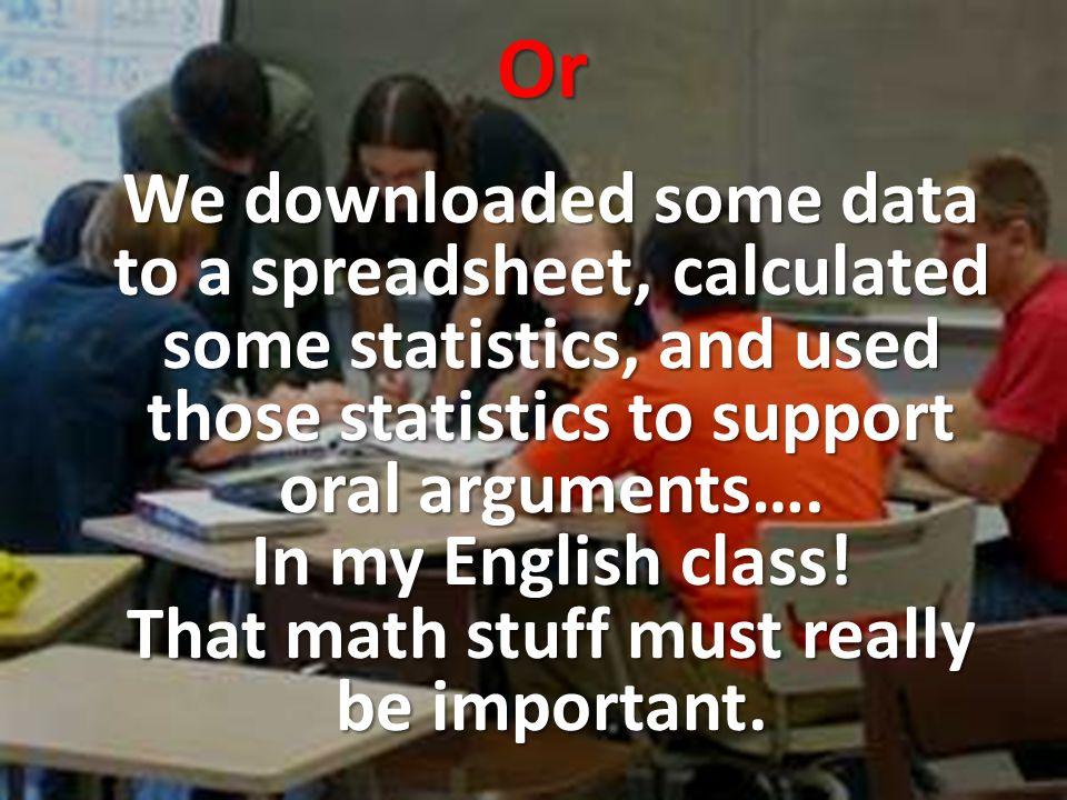 QL: A habit of mind Quantitative literacy describes a habit of mind rather than a set of topics or a list of skills.