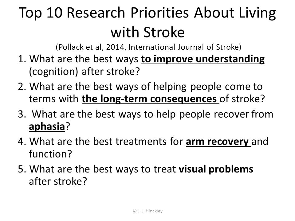 What would research priorities be for aphasia?