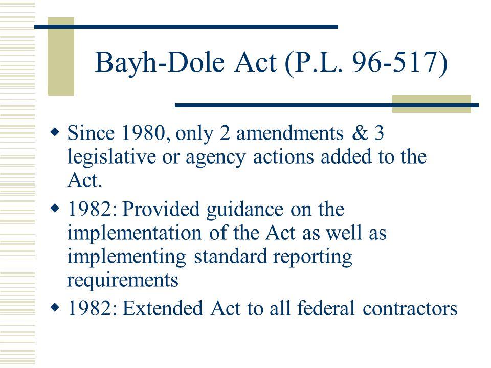 Bayh-Dole Act (P.L.