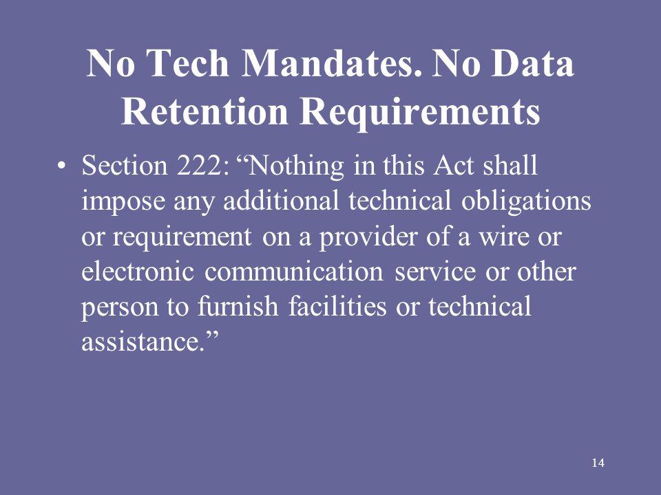 14 No Tech Mandates.
