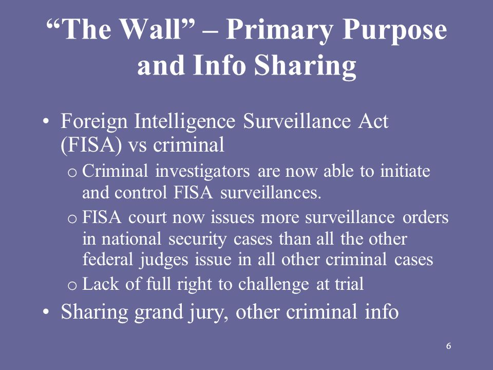17 Security and Freedom Enhancement (SAFE) Act (cont'd) National Security Letters (Section 505)  restore a standard of individualized suspicion - reason to believe the records sought relate to a suspected terrorist or spy  give the recipient of an NSL the right to challenge the letter and the nondisclosure requirement  place a time limit on the nondisclosure requirement