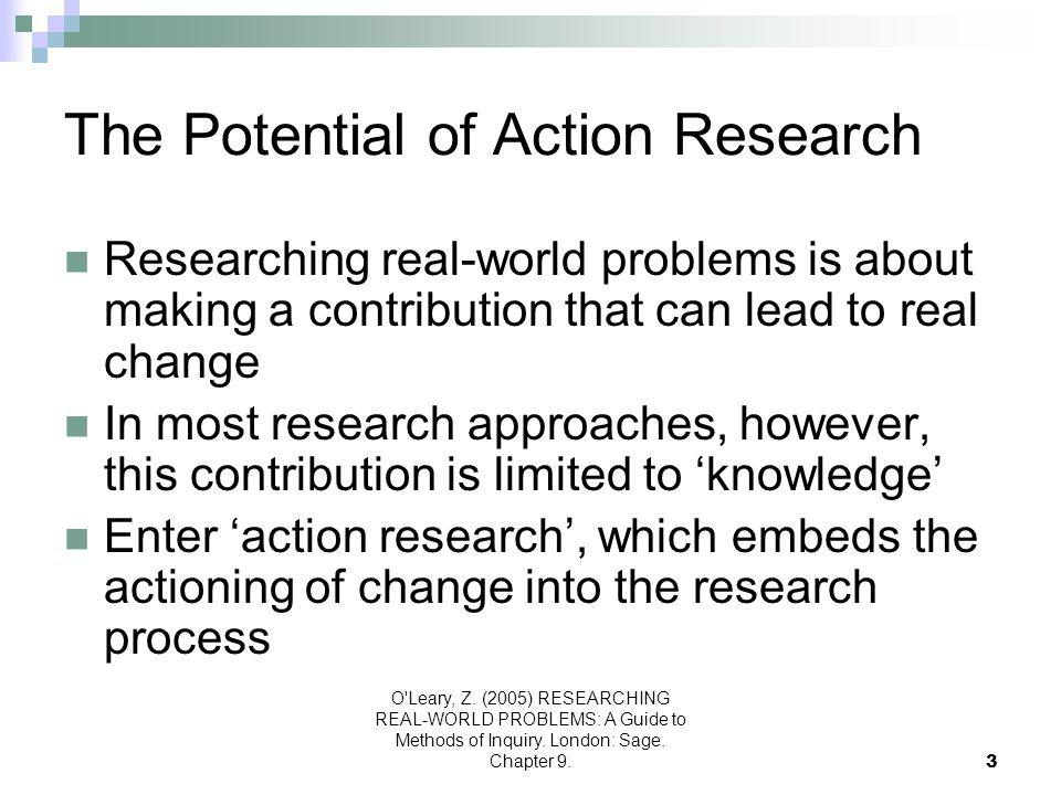 O Leary, Z.(2005) RESEARCHING REAL-WORLD PROBLEMS: A Guide to Methods of Inquiry.