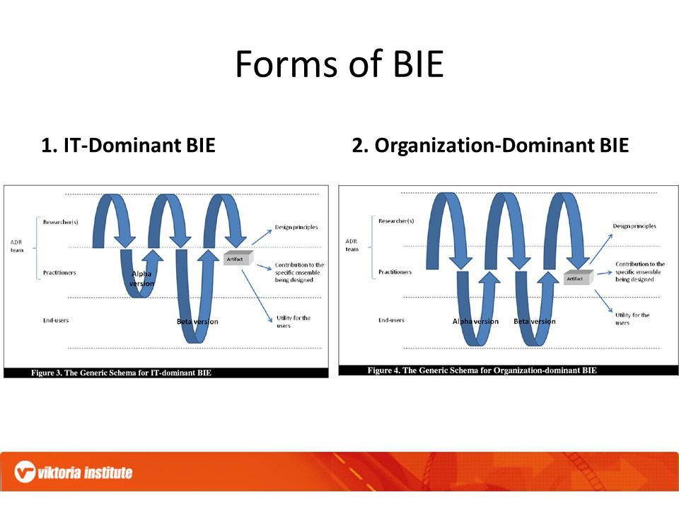 Forms of BIE 1. IT-Dominant BIE2. Organization-Dominant BIE