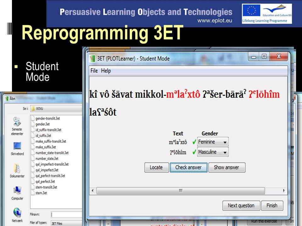  Student Mode Reprogramming 3ET