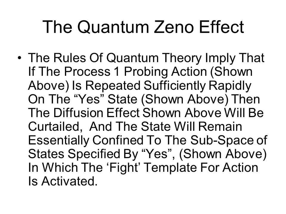 The Quantum Zeno Effect The Rules Of Quantum Theory Imply That If The Process 1 Probing Action (Shown Above) Is Repeated Sufficiently Rapidly On The ""