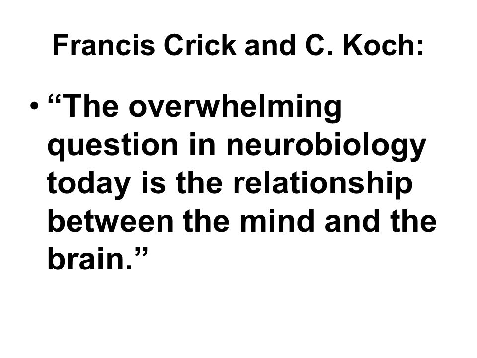 Francis Crick and C.