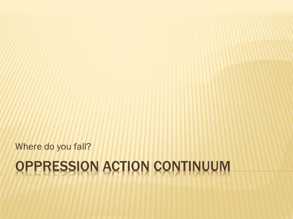 Where do you fall?