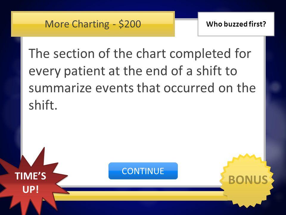 More Charting - $100 Braden Skin Assessment CORRECT INCORRECT