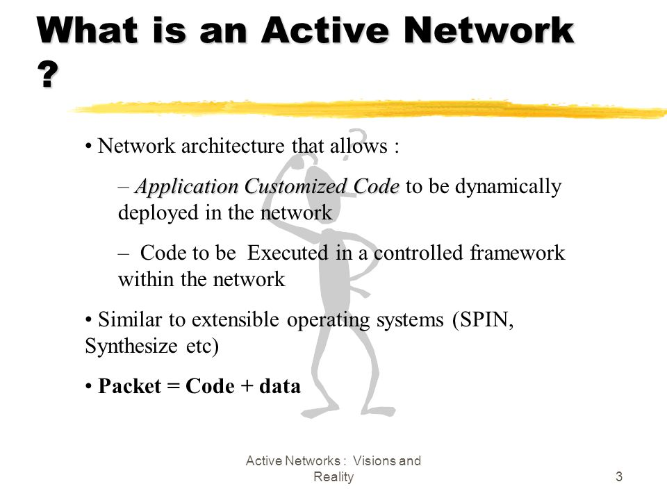 Active Networks : Visions and Reality3 What is an Active Network .