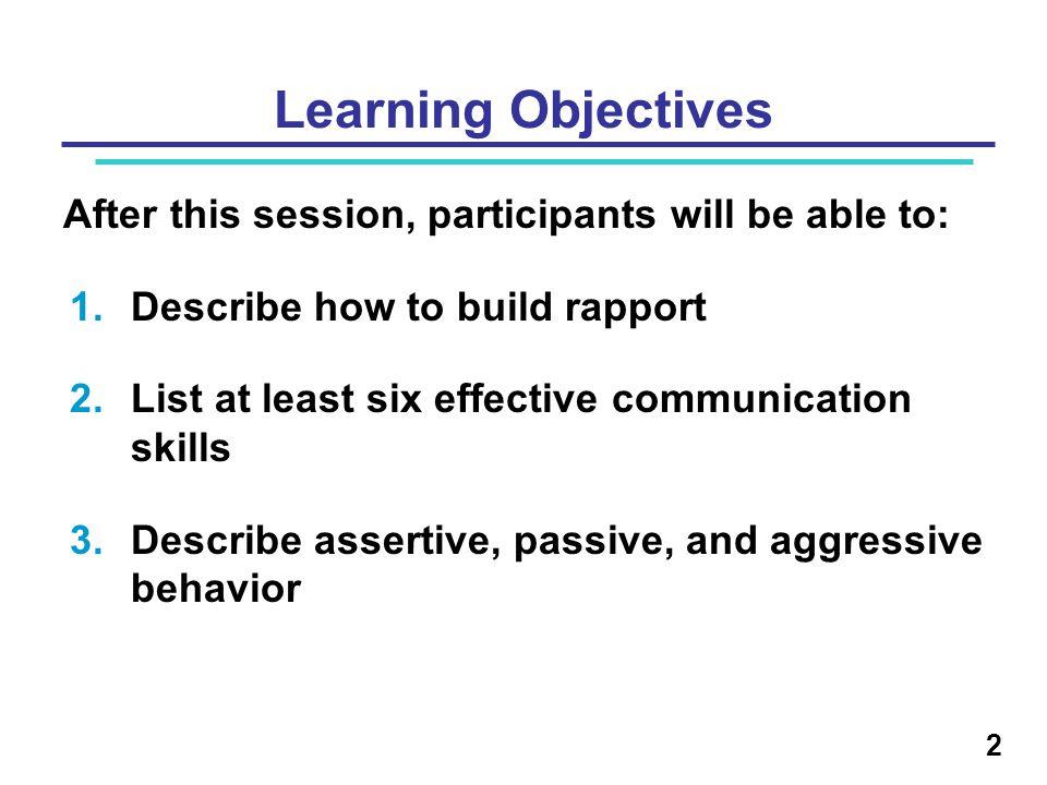 33 Assertive, Passive, and Aggressive Behavior