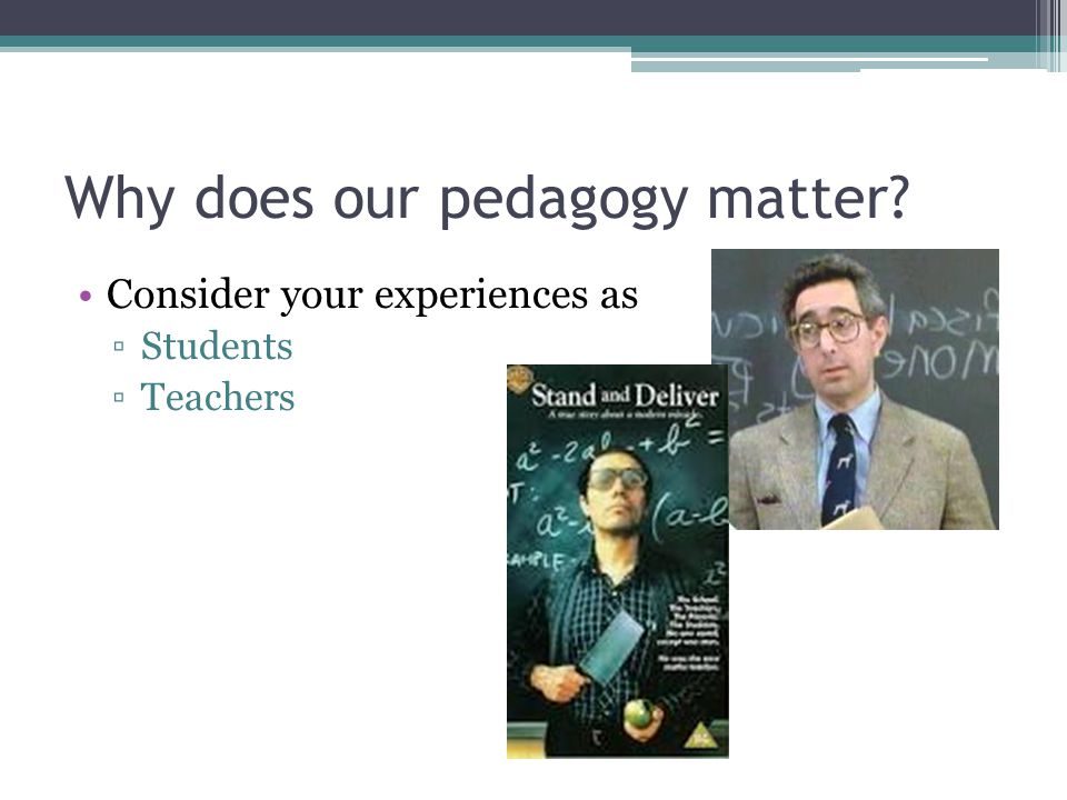 Our pedagogy affects … Both Inductive and Deductive Reasoning Material Retention Significant Learning Pluralism Engagement