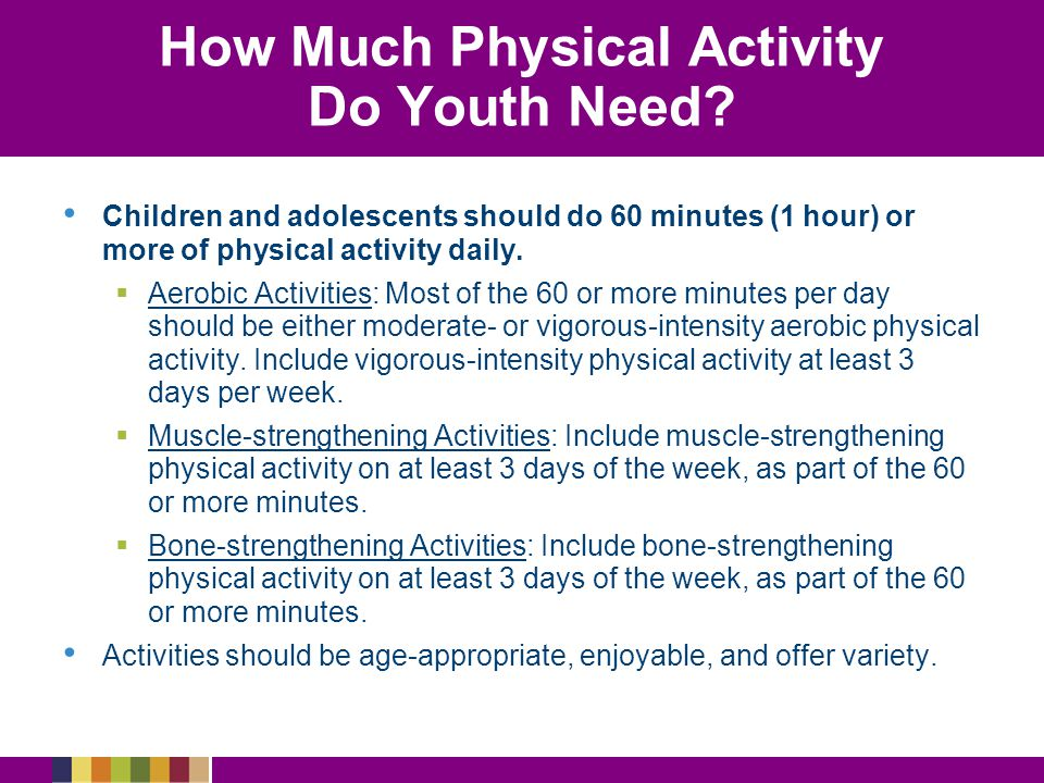 How Much Physical Activity Do Youth Need.