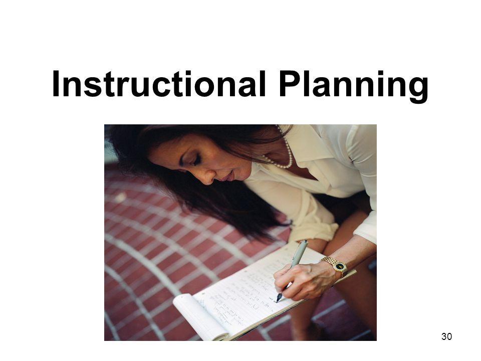 30 Instructional Planning