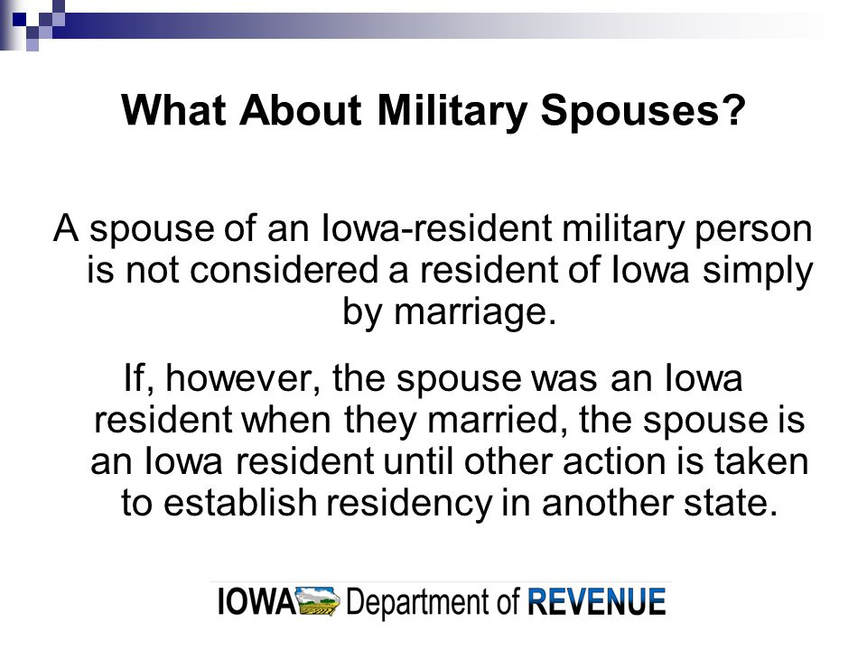 What About Military Spouses.