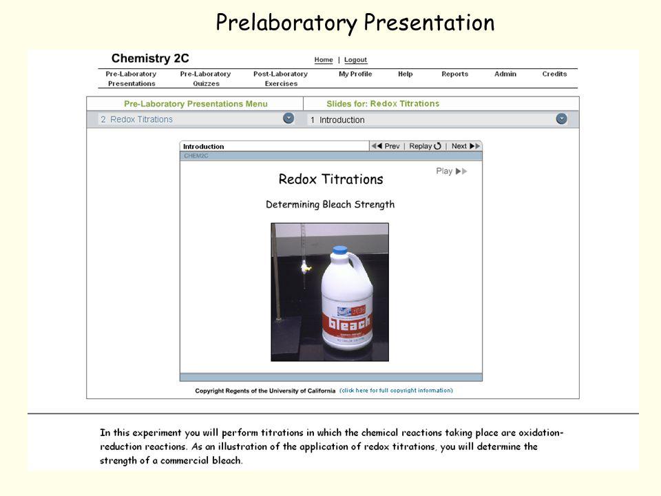 Prelaboratory Presentation
