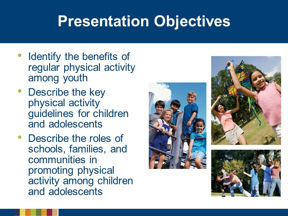 Barriers to Meeting the Guidelines Personal   Attitude   Belief in ability to be physically active Social   Influence of their peers   Parental support Environmental   Safe locations to be active   Access to equipment   Financial costs of physical activities   Time