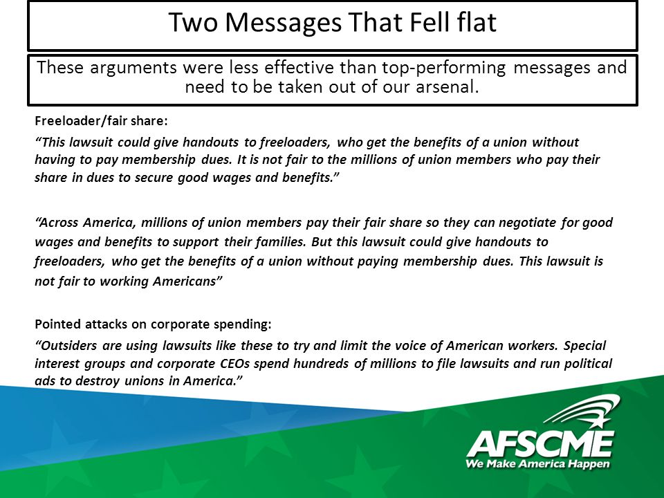 Freeloader/fair share: This lawsuit could give handouts to freeloaders, who get the benefits of a union without having to pay membership dues.
