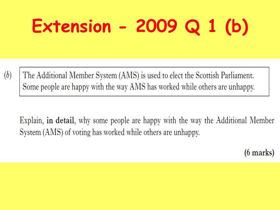 Extension - 2009 Q 1 (b)