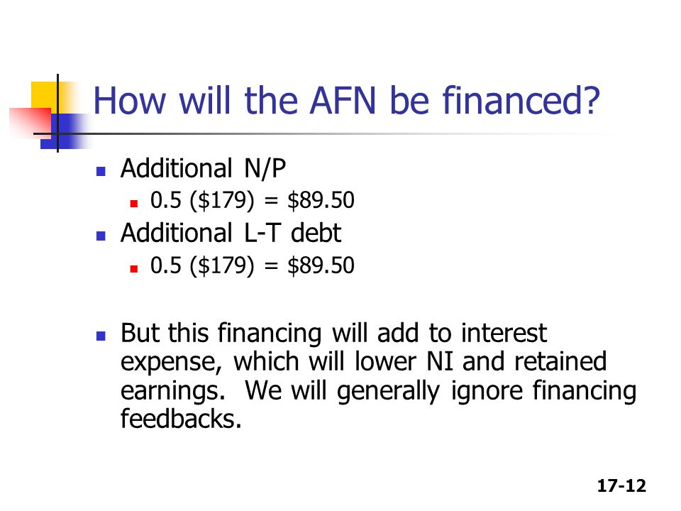 17-12 How will the AFN be financed.