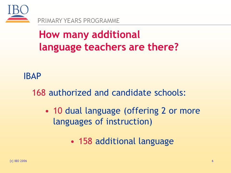 PRIMARY YEARS PROGRAMME (c) IBO 200617 teaching through inquiry.