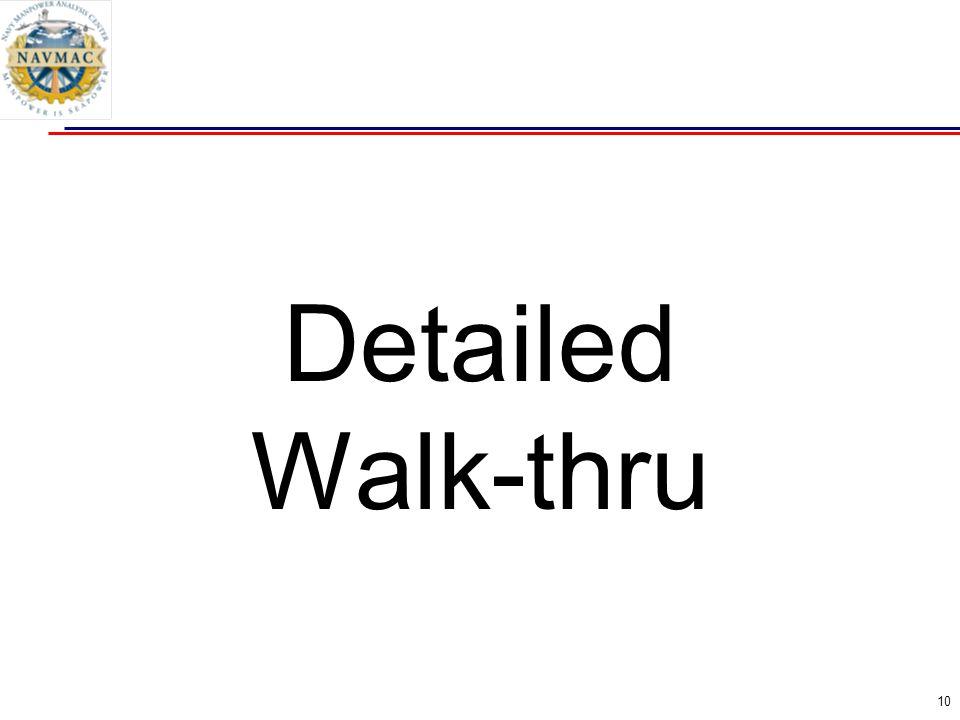 10 Detailed Walk-thru