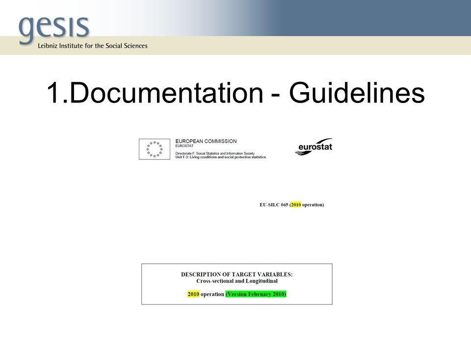 1.Documentation - Guidelines