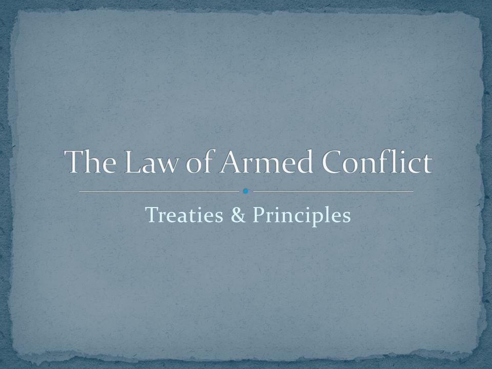 Treaties & Principles