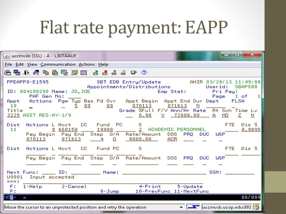 Flat rate payment: EAPP