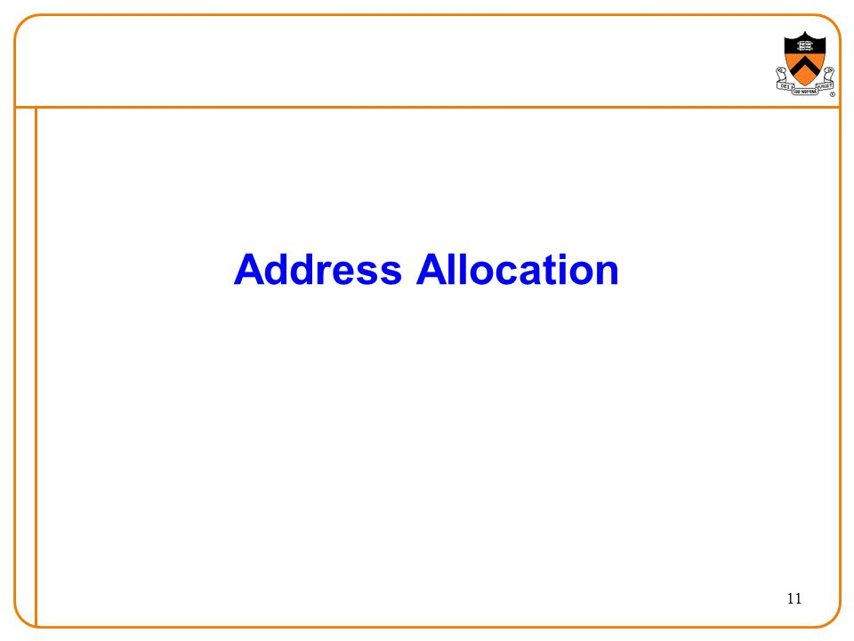 11 Address Allocation