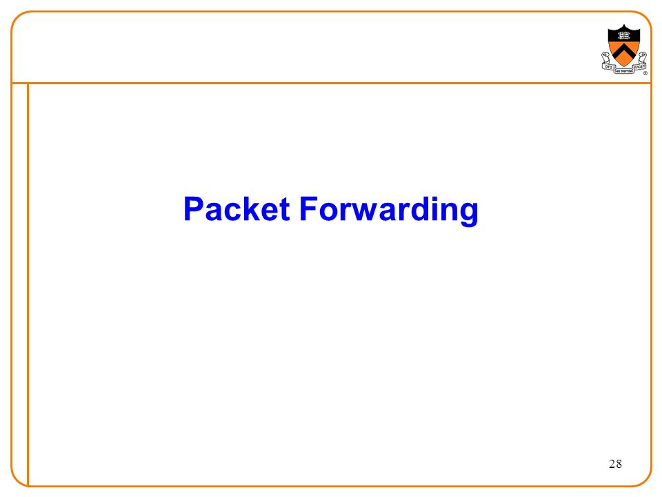 28 Packet Forwarding