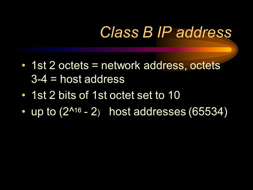 Class A IP address