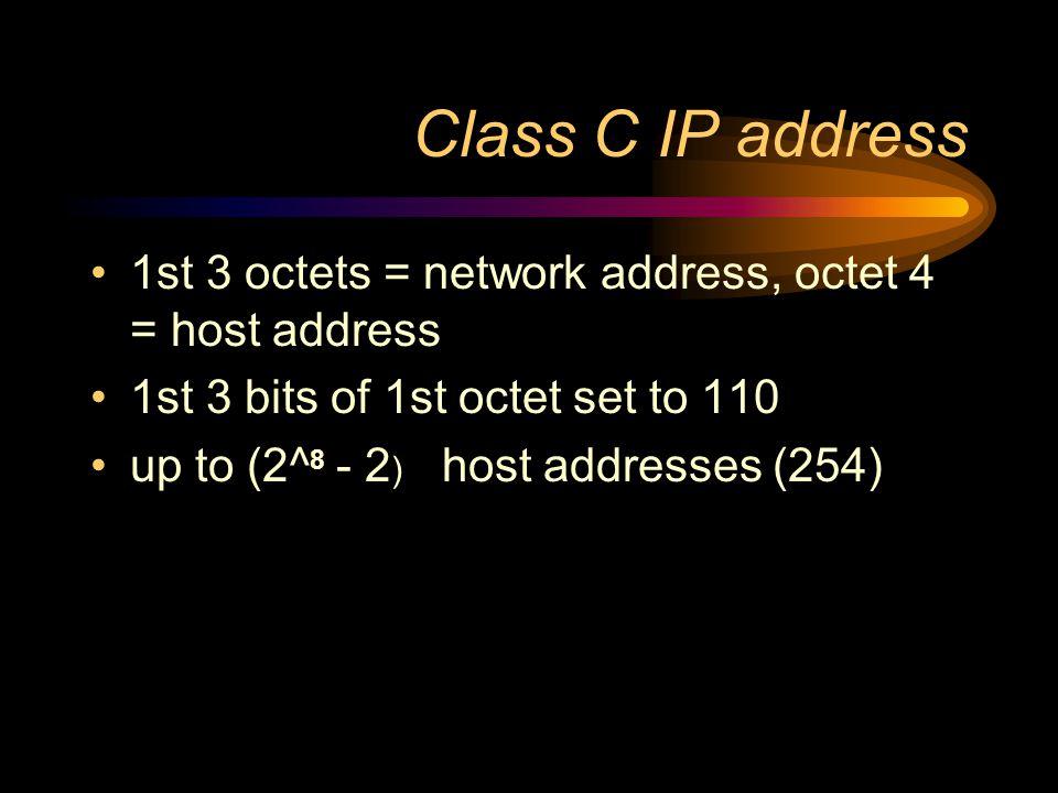 Class B IP address