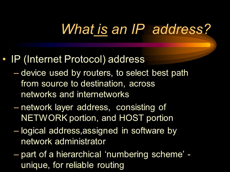Topics What is an IP address .