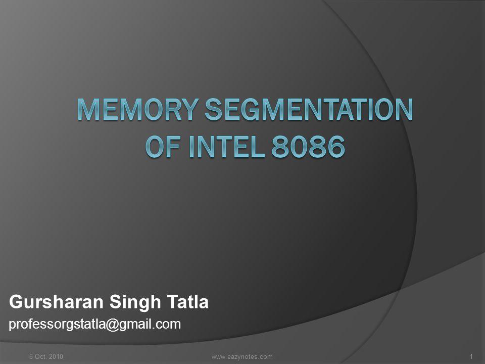 Gursharan Singh Tatla professorgstatla@gmail.com 6 Oct. 20101www.eazynotes.com